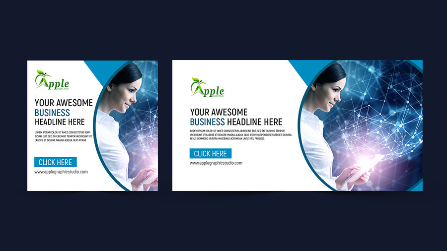 Fresh & modern roll up banner design photoshop tutorial apple.