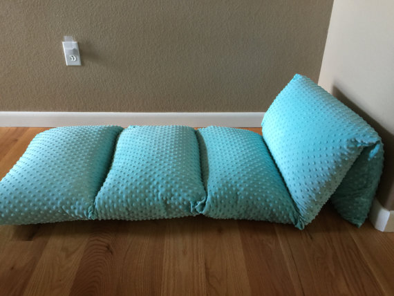 Pillow bed for kids with super soft minky cover