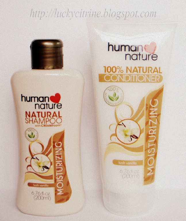 Lucky Citrine: Human Nature Moisturizing Shampoo & Conditioner in