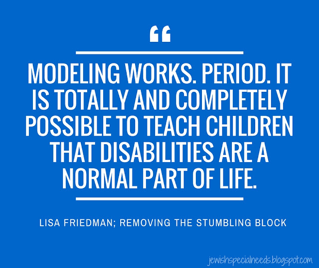 Modeling works. Period. Lisa Friedman via Removing the Stumbling Block