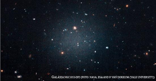 Diferentona - cientistas descobrem 1ª galaxia sem matéria escura - Capa