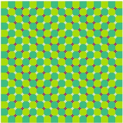 Optical Illusion in which pattern seems to be Diagonally Moving