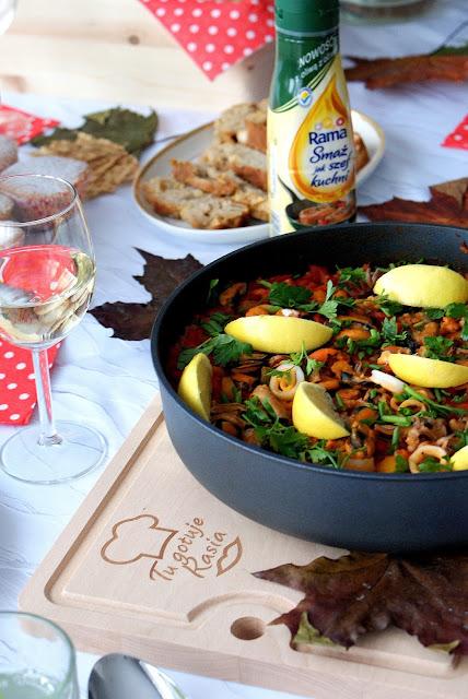 Rama smaż jak szef kuchni ,Rama,paella,paella marinera,kuchnia hiszpańska,szybkie danie hiszpańskie,Pascal Brodnicki ambasador marki Rama,