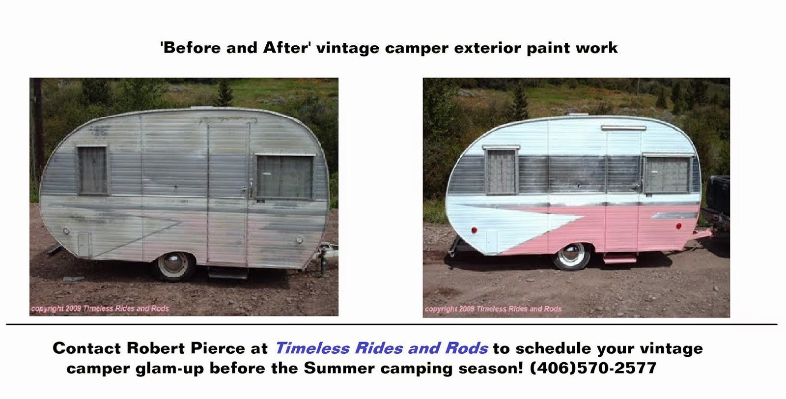 Vintage Camper Exterior BEFORE And AFTER