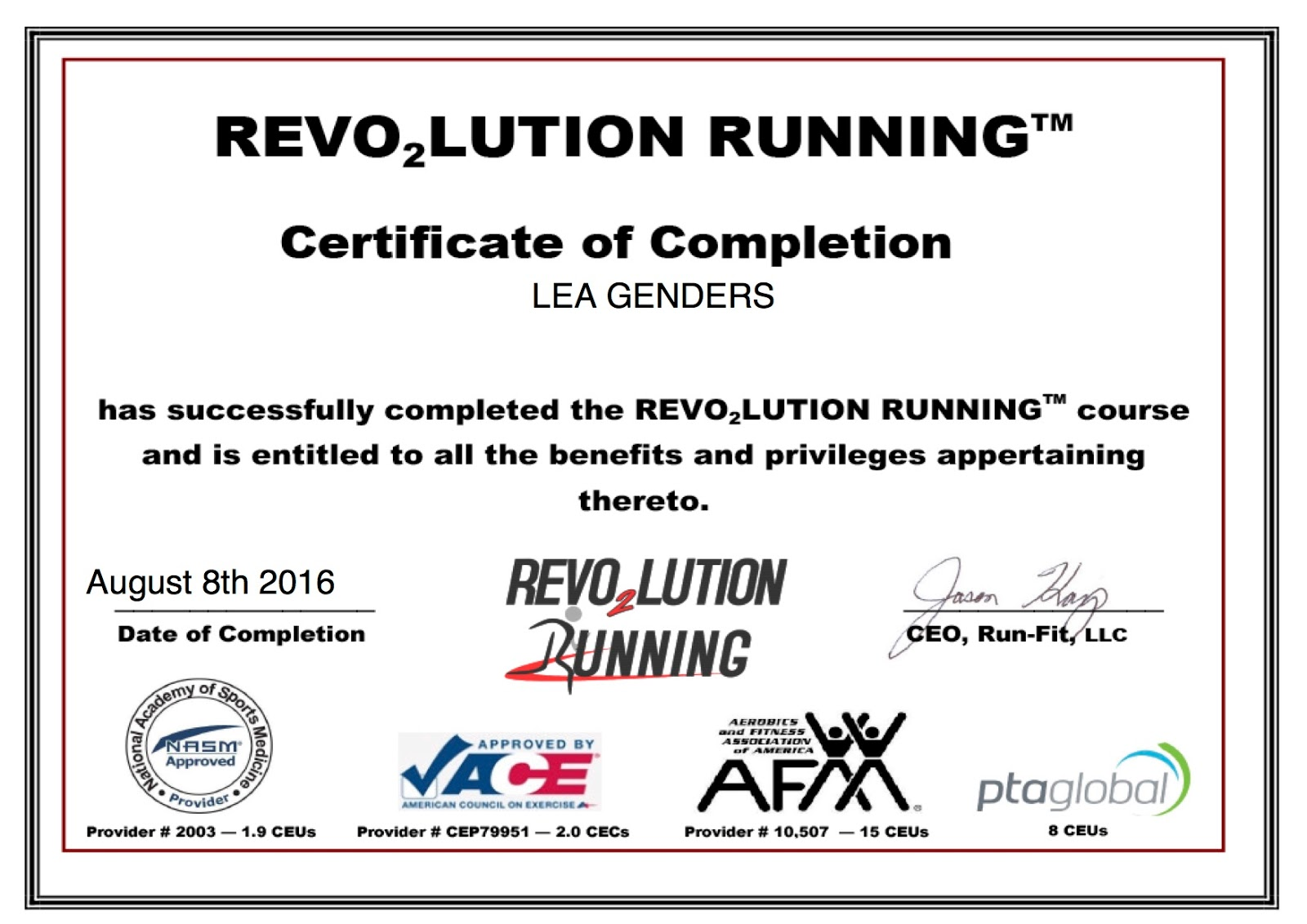 Running With Ollie The Science Of Running Become A Revo2lution