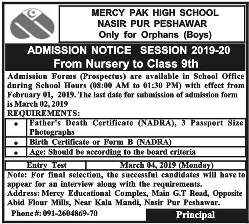 Mercy admissions