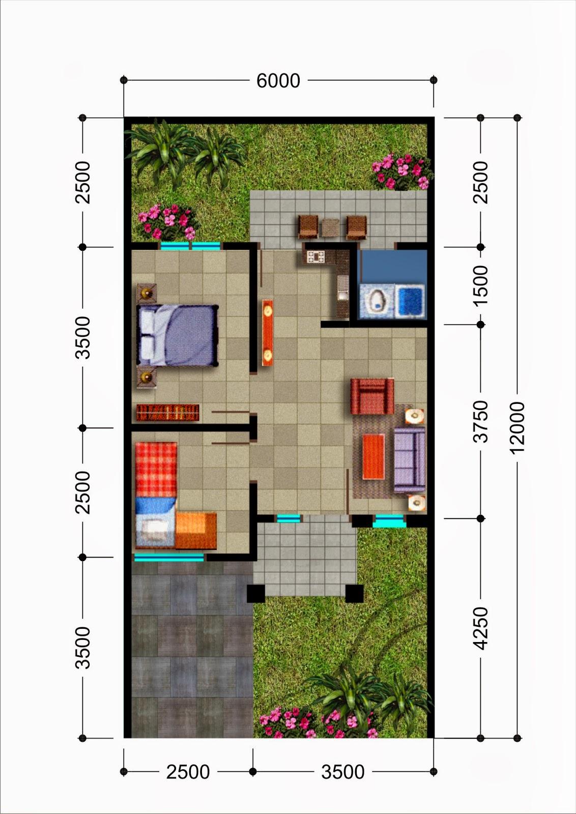 Rencana Cerdas Denah Rumah Minimalis Type 36  Inspiratif