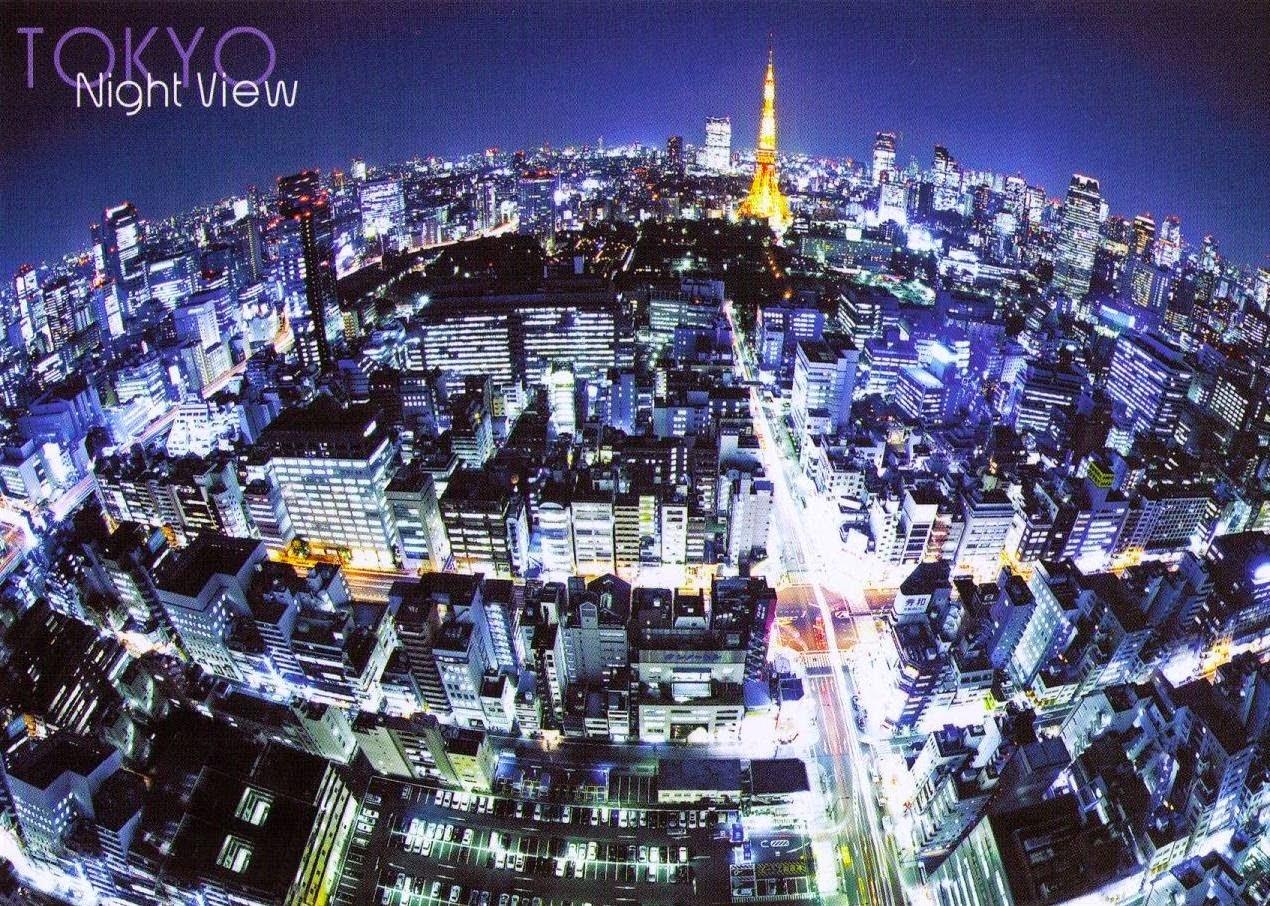Токио Япония ночной вид