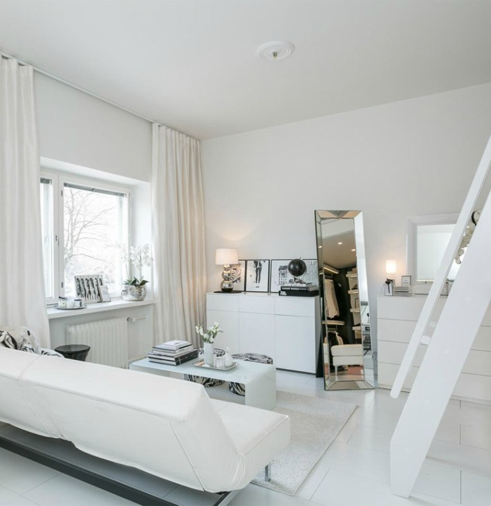Increíble vestidor en un mini loft