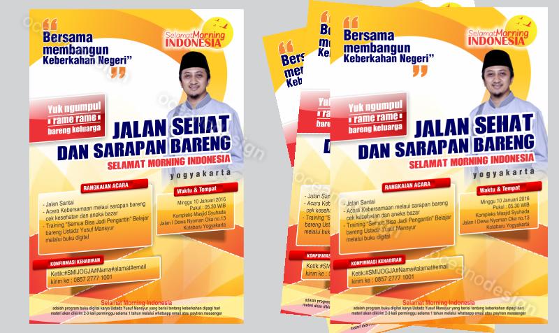 Desain Poster Jalan Sehat Selamat Morning Indonesia Jasa Desain