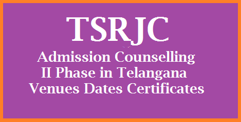 TSRJC Counselling Schedule in Telangana in Colleges on 19.06.2017 TREIS-TSRJCCET-2017 - Admissions into 1st year Intermediate in 06 upgraded TSR Schools for the Academic year 2017-18 through counseling - Constitution of committee and instructions issued tsrjc-counselling-ii-phase-schedule-in-telangana