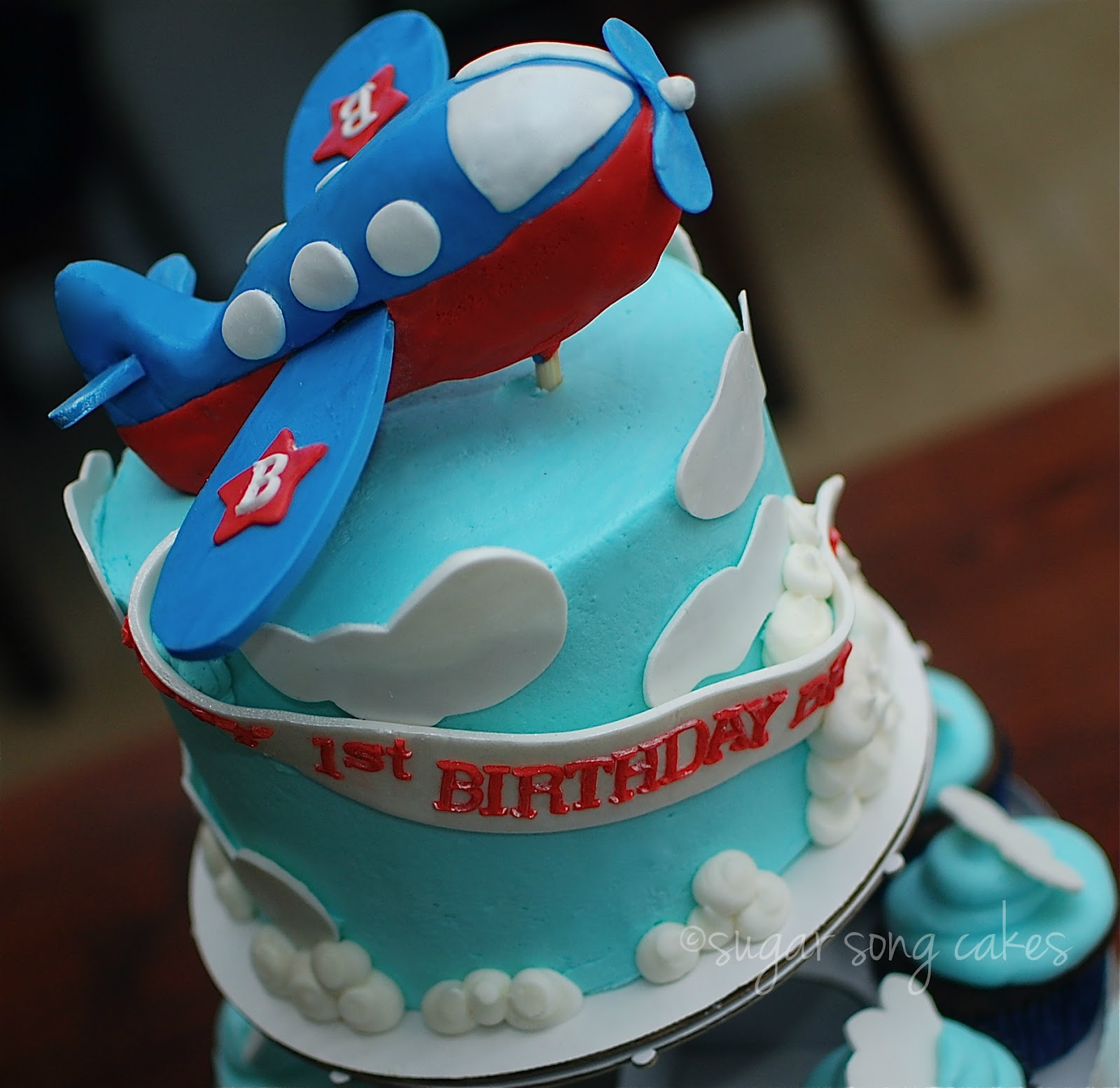 Cupcake Clouds Airplane Cake Ideas And Designs