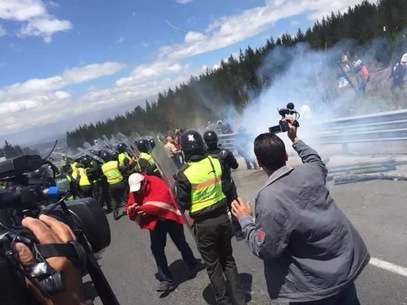 manifestaciones en Ecuador 13 agosto 2015
