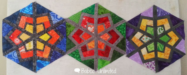 BabcoUnlimited.blogspot.com - Snowflake Hexie Block
