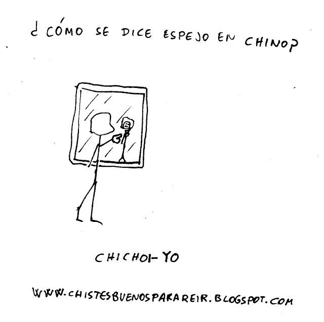 ¿Cómo se dice espejo en chino? Chichoi-yo