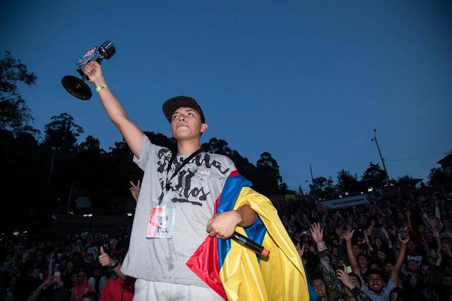 Valles T  campeon de la batalla de los gallos Red Bull, ahora a presentar a Colombia en Peru