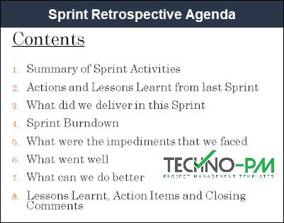 retrospective agenda, project post mortem template, sprint retrospective template