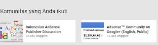 Komunitas Publisher AdSense Gplus Indonesia dan Amerika