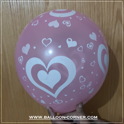 Balon Latex Print Hati / Love (MURAH)