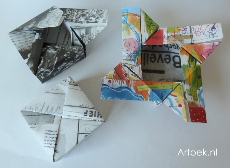 Super Traktatie idee: Vierkant doosje vouwen &UO82
