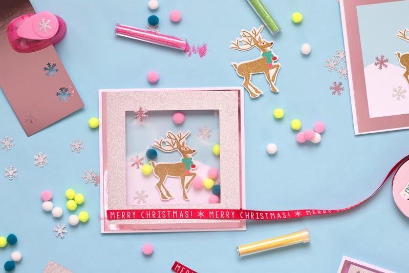 diy reindeer pom pom shaker card tutorial