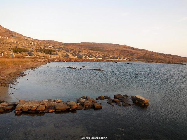 widok na Port Handlowy Delos Grecja