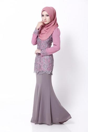 Gambar Model Kebaya Terbaru Untuk Ibu Muslimah Berjilbab
