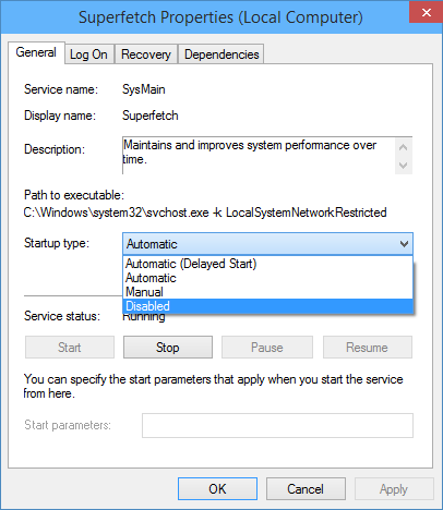 How to Disable Superfetch in windows 10   Windows Blue full