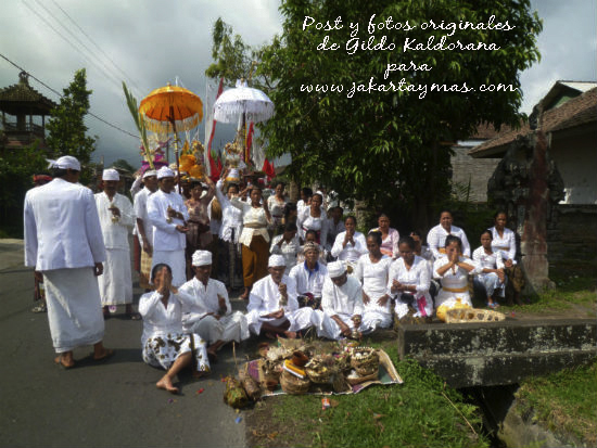 Ceremonia en Bali