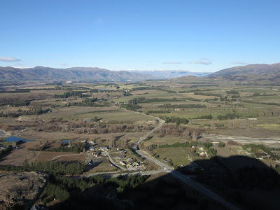 Vistas del valle de Albert Town desde Iron Mountain, Nueva Zelanda
