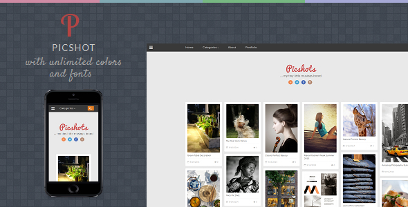 PicShots - Responsive Blogger Template