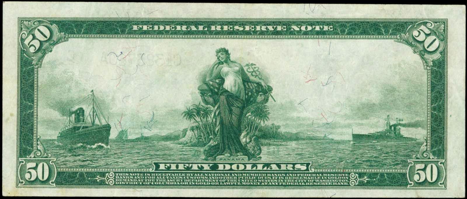 1914 50 Dollar bill