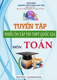 Tuyển tập phiếu ôn tập thi THPT Quốc gia môn Toán
