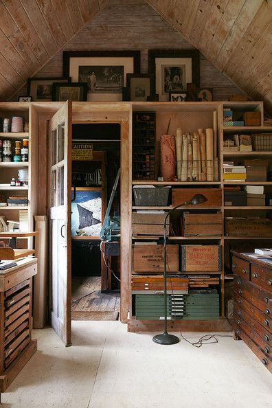I Love This Attic Print Storage And Art Room Have Something Similar In The Of My Cottage Am Always Looking For New Ideas Via