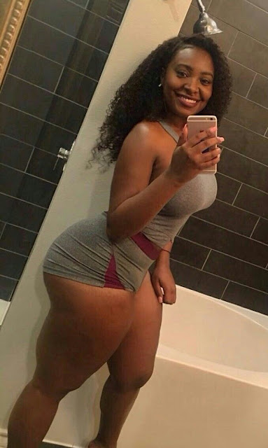 beautiful black woman with curves