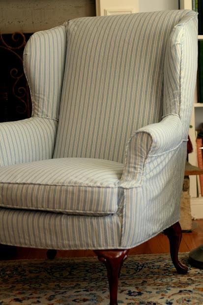 Custom Slipcovers Shelley Shabby Chic Wingbacks