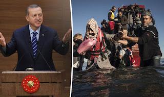 """""""Παιχνίδια"""" Ερντογάν με τις προσφυγικές ροές"""