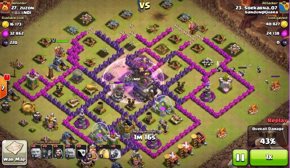 war attack for th9