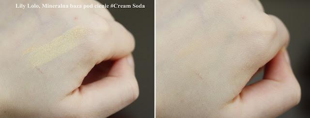 Mineralna baza pod cienie Cream Soda jako korektor pod oczy
