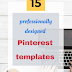 15 professionally designed, versatile, and ready-to-use Pinterest templates for Travel Bloggers!