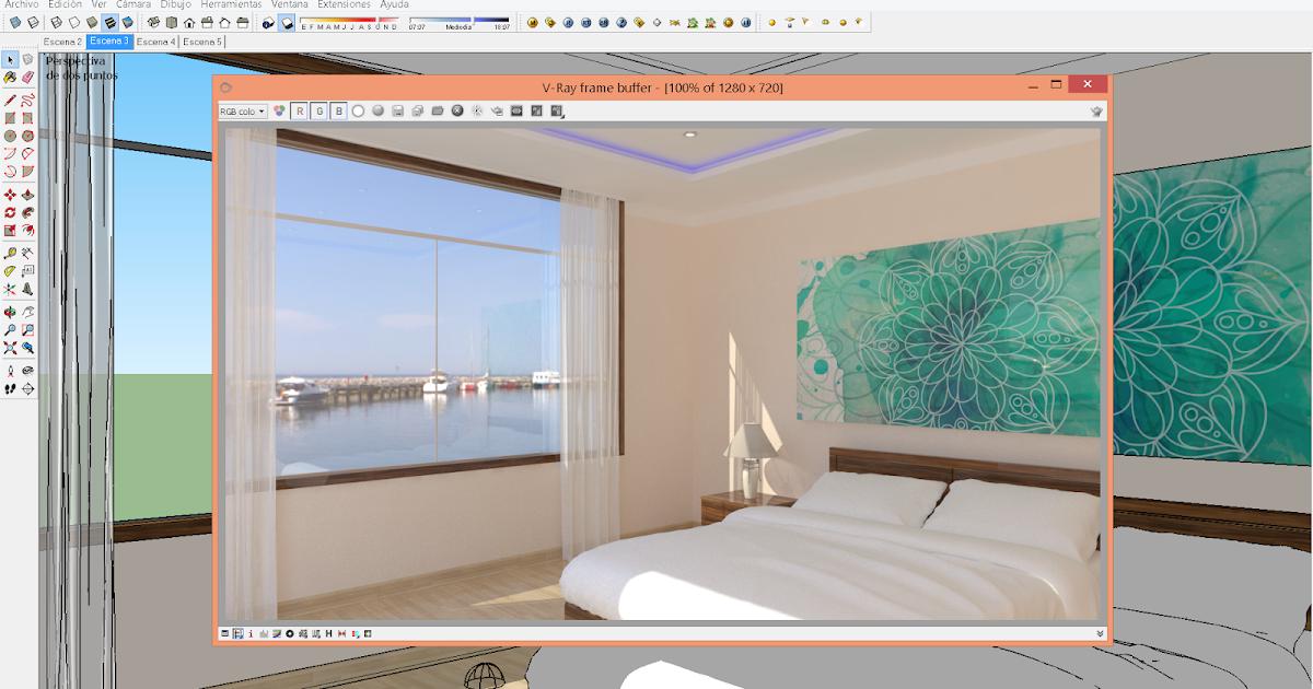 Renderizar con vray 2 0 para sketchup como hacer paisaje for Mobilia para sketchup 8