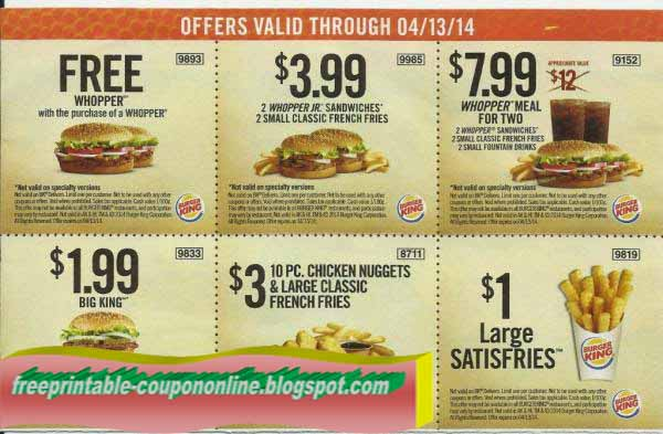 Burger king frankreich coupons