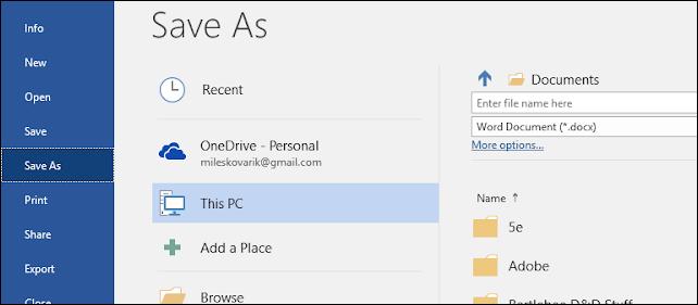 salvare documento pdf word su Google Drive