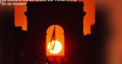 Chris H Hardy's blog: Sun setting under Arc de Triomphe