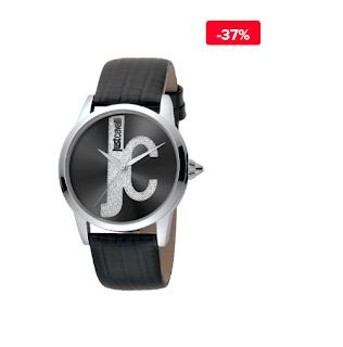 Ceas dama casual negru Just Cavalli Logo JC1L055L0015 reducere