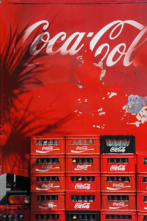 urban photography, urban photo, shadows, coca cola, red photo, travel photography, contemporary photography, Sam Freek