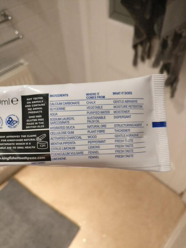 20 Brilliant Ideas That Should Become Reality Everywhere - This Toothpaste Describes Both Its Ingredients And Their Purpose