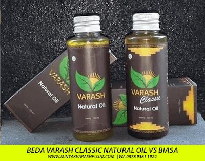 beda minyak varash classic dengan natural oil biasa