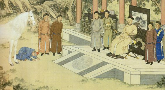 Qing dynasty received horse tribute