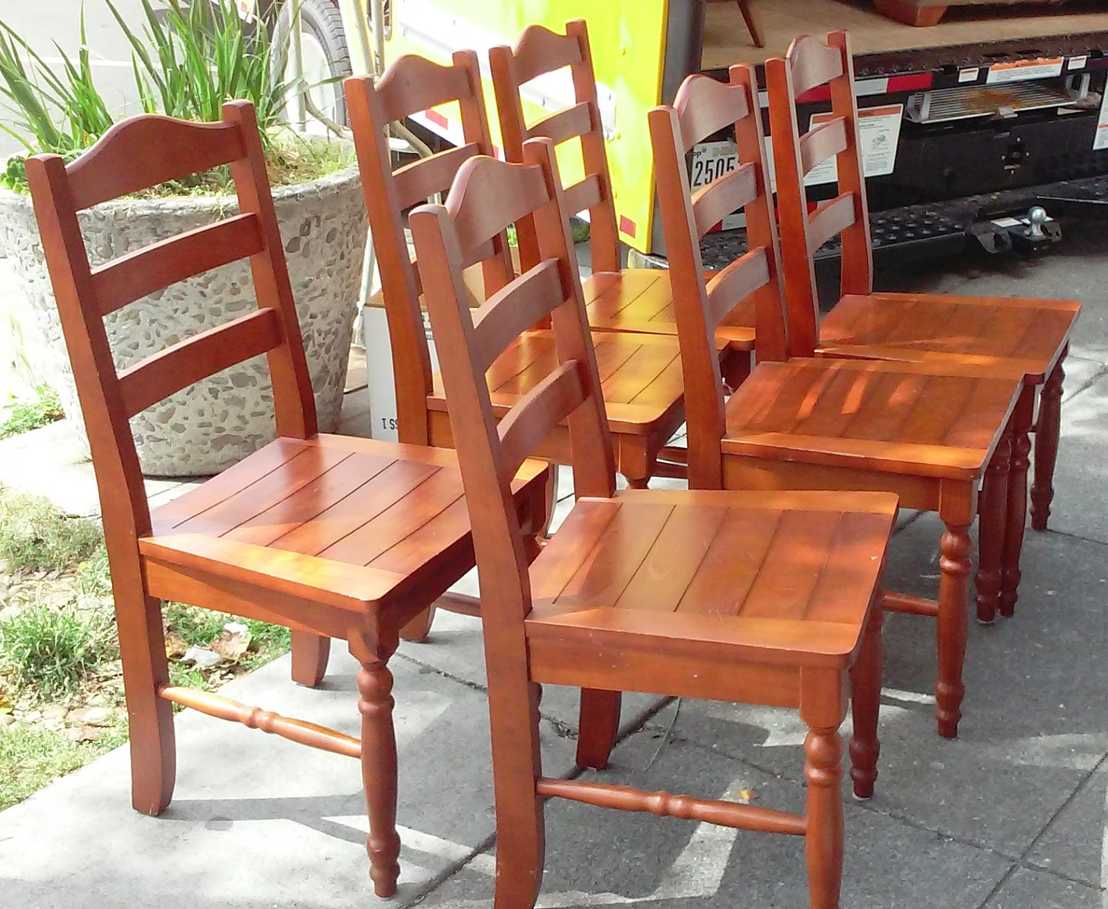 furniture collectibles sold set of 6 brazilian pine dining chairs